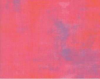 Grunge Basics in Calypso Coral part of the Stitch Pink Mix for Moda Fabrics