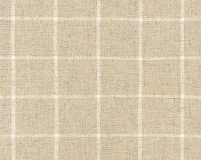Essex Yarn Dyed Classic Woven in Natural Window Pane by Robert Kaufman