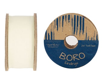 "2.25"" Boro Trim Twill Tape - by the Yard - 6 color options"