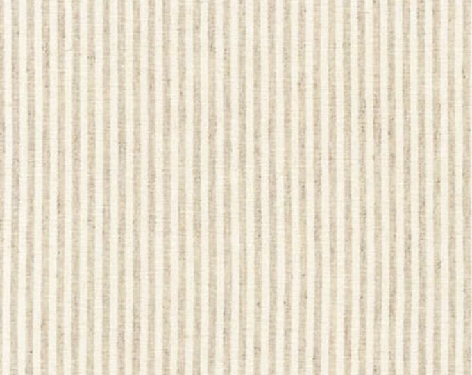 Essex Yarn Dyed Classic Woven in Natural Pinstripe by Robert Kaufman