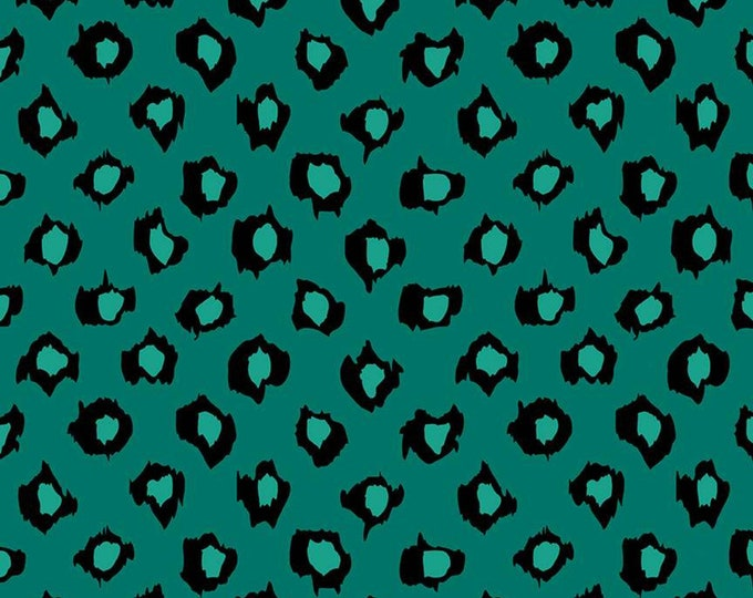 Leopard in Rainforest from the Designer Rayon Collection by Riley Blake Designs