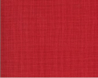 Linen Texture - BRUSHED Cotton in Cardinal from the Juniper Collection by Moda Fabrics