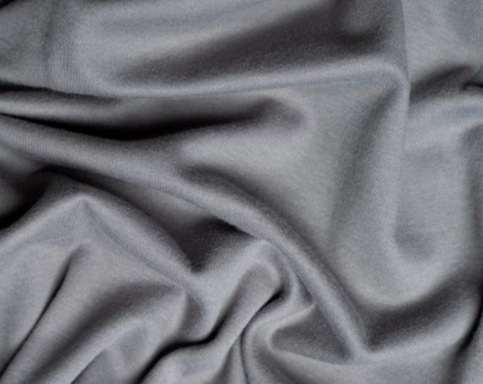 Solid Interlock Organic Knit in Gray from Birch Fabrics