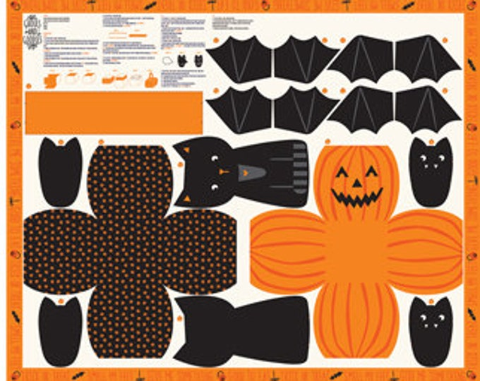 "Ghouls Goodies Halloween Panel - 36"" x 44"" - By Stacy Iest Hsu for Moda Fabrics"