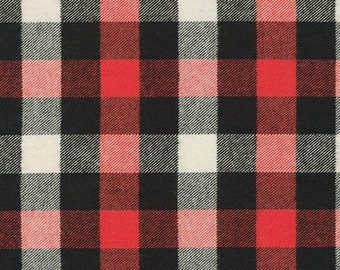 Tahoe Flannel in Red by Robert Kaufman