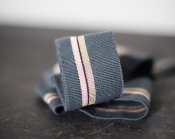 French Stripy Ribbing in Ice and Cream by Merchant & Mills