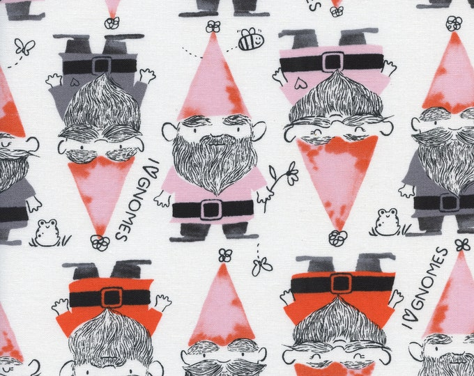 Gnomes (in red) from Front Yard Collection by Sarah Watts for Cotton + Steel