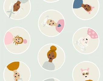 Confetti Friends in Pale Blue Fabric from Girl's Club for Cotton + Steel