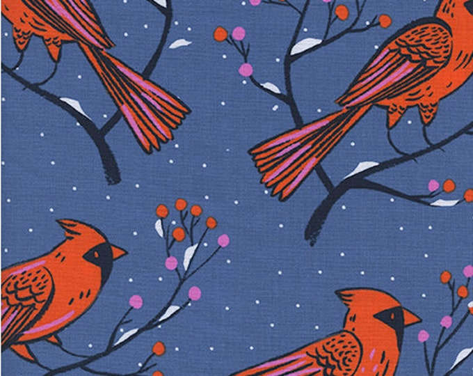 PRESALE: Winter Cardinals in Blue by Sarah Watts for Cotton + Steel