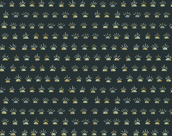 Morning Glory in After Midnight Fabric from the Dusk till Dawn Collection by Cotton + Steel
