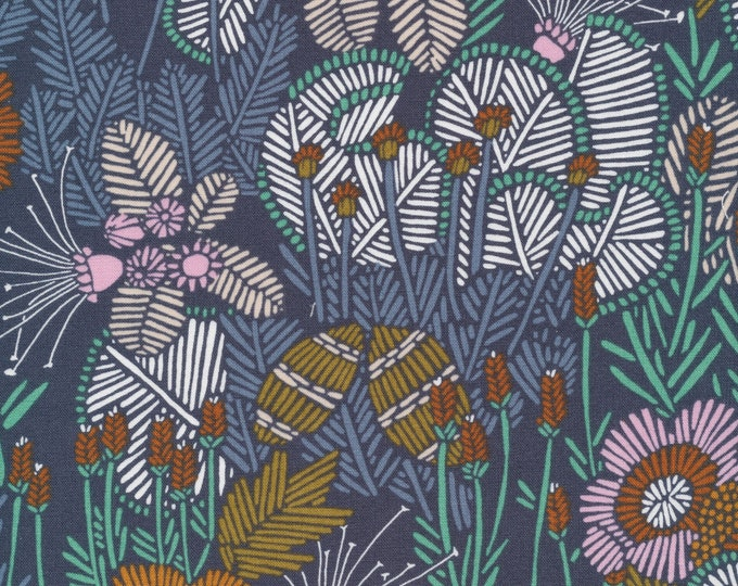 Embroidered Floral 100% Organic Cotton from the Grasslands Collection by Cloud 9
