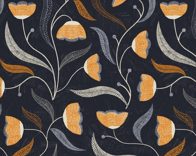 Moon Bloom 100% Organic Cotton from the Bloom Together Collection by Meenal Patel  for Cloud 9 - 1/2 YARD