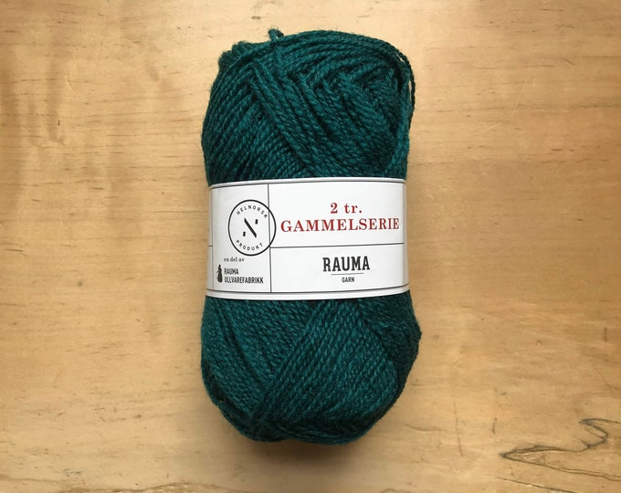 2 Ply Gammelserie in Teal by Rauma
