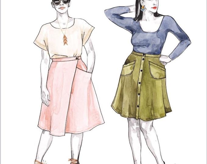 FIORE Skirt Paper Pattern - Closet Case Patterns