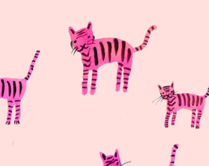 Tiger Stripes in Hot Pink from the Darlings Collection by Ruby Star Society
