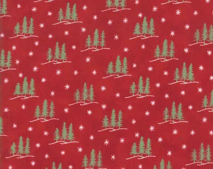Holiday Lodge in Berry Red by Moda