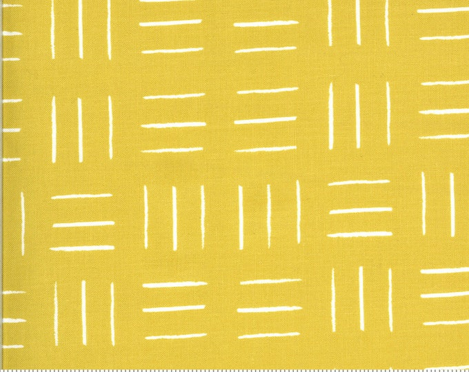 Opposing Lines in Citrine from the Zoology Collection by Moda Fabrics