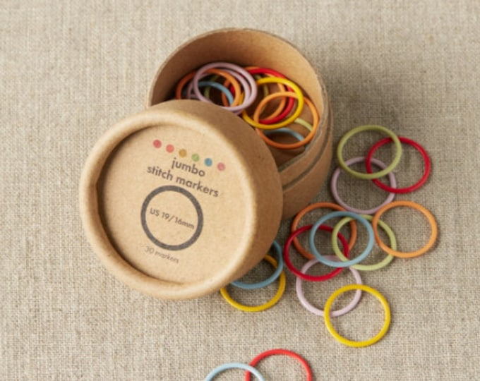 Colored Ring Stitch Markers - JUMBO - by CocoKnits