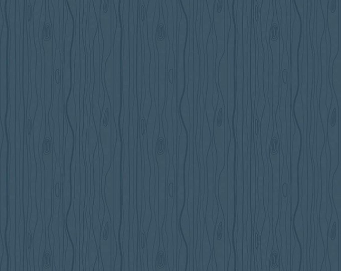 Woodland Flannel in Wood Grain Navy