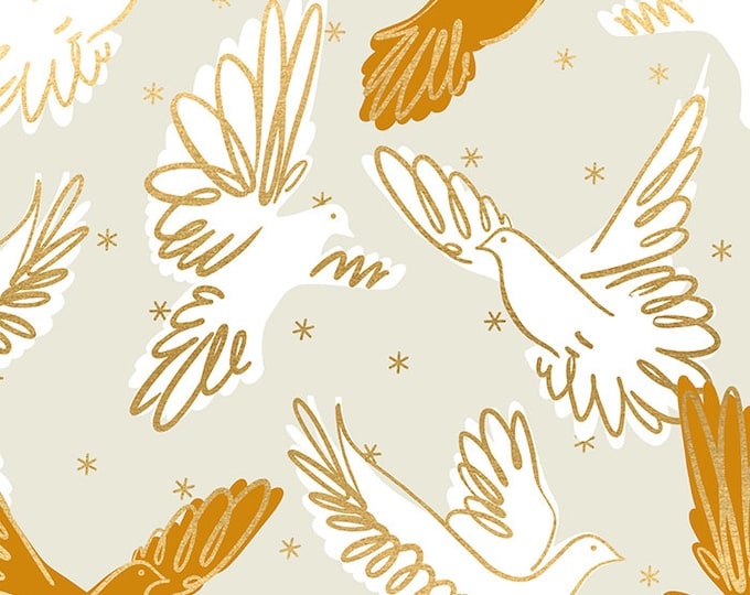 Fly in Shell from the Rise Collection by Melody Miller for Ruby Star Society by Moda Fabrics