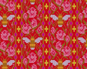 Bead Work in Scarlet from the Handiwork Collection by Alison Glass