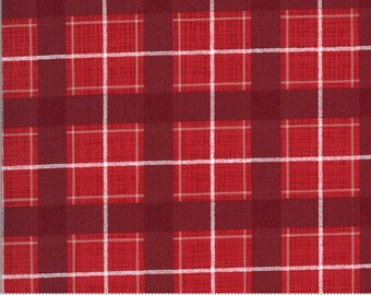 Plaid in Cardinal from the Juniper Collection by Moda Fabrics