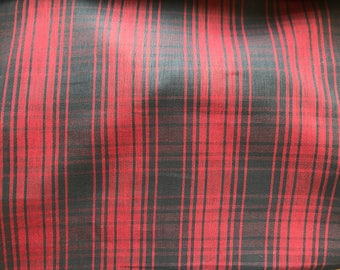 Nantucket Red and Gray Backed Cotton Plaid