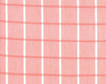 Bonnie Camille Windowpane in Pink by Moda Wovens