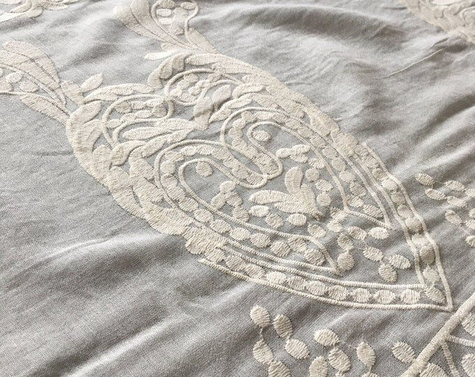 Embroidered Edge Cotton Lawn