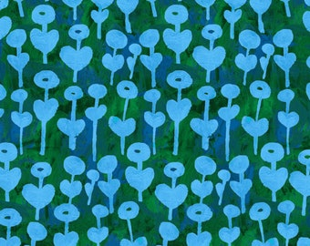 Love Flower in Blue for the Once Upon a Time Collection for Cotton + Steel