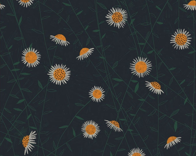 Flower Field 100% Organic Cotton from the Bloom Together Collection by Meenal Patel  for Cloud 9 - 1/2 YARD