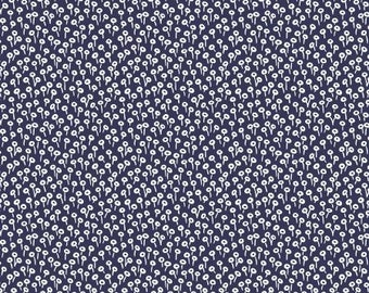Tapestry Dot in Navy from the Rifle Paper Co. Basics Collection by Cotton and Steel