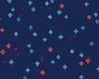 Bouquet Burst in Blue RAYON for the Once Upon a Time Collection for Cotton + Steel