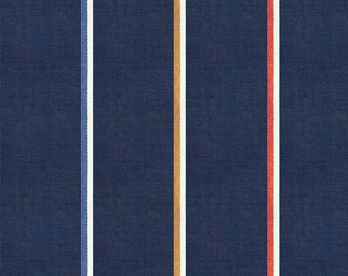 Linework Lightweight in Navy from the Warp & Weft Heirloom Wovens Collection by Alexia Marcelle Abegg for Ruby Star Society