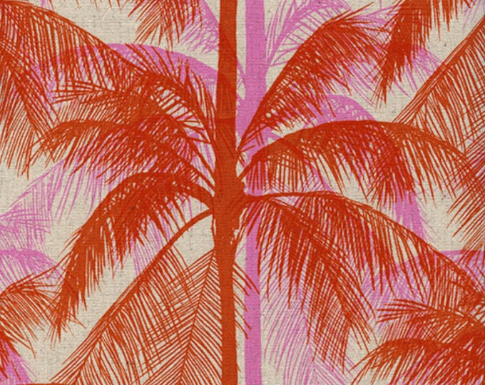 Palms - Pink in CANVAS from Poolside by Melody & Alexia for Cotton + Steel