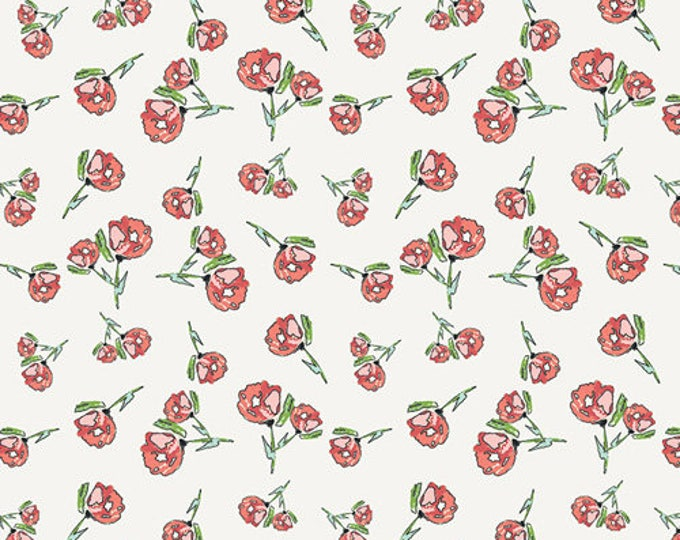 Lively Rosebuds in Crystal- Wild Bloom by Bari J for Art Gallery