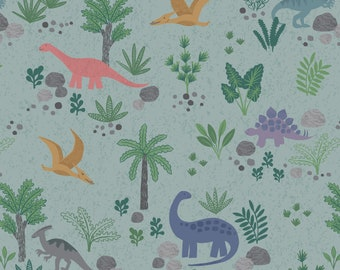 Land Dinos in Grey Green for Kimmeridge Bay Collection by Lewis + Irene
