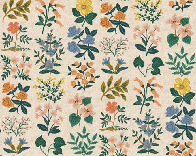 Wildflower Field in Natural Cavas Fabric from Meadow by Cotton + Steel