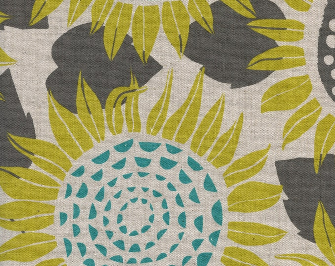 Sunflowers (in yellow, CANVAS) from Front Yard Collection by Sarah Watts for Cotton + Steel