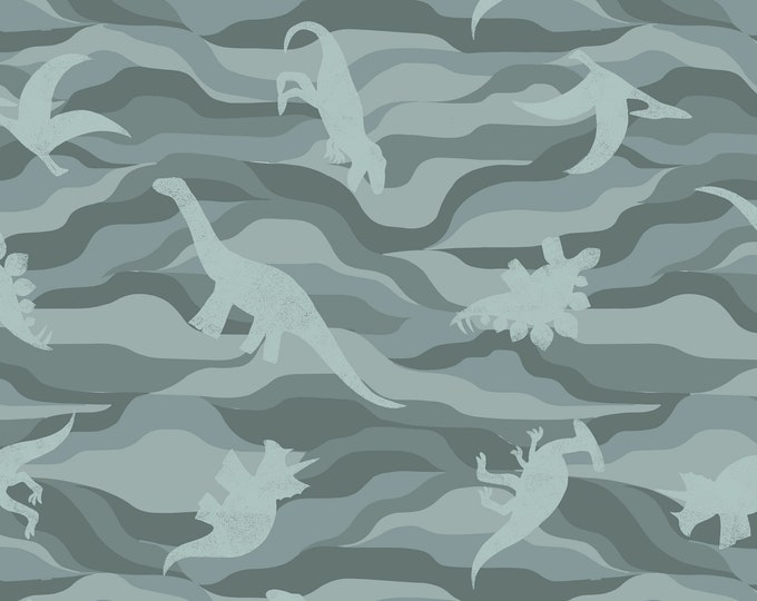 Dino Rock Layers in Gray Green for Kimmeridge Bay Collection by Lewis + Irene