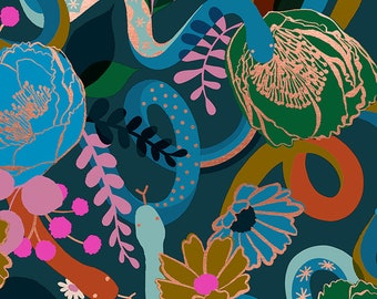 Dream in Peacock from the Rise Collection by Melody Miller for Ruby Star Society by Moda Fabrics