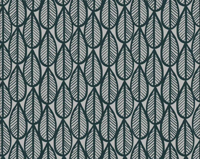 Falling Leaves Matte Laminate in Gray/Black for Cloud 9 Fabric