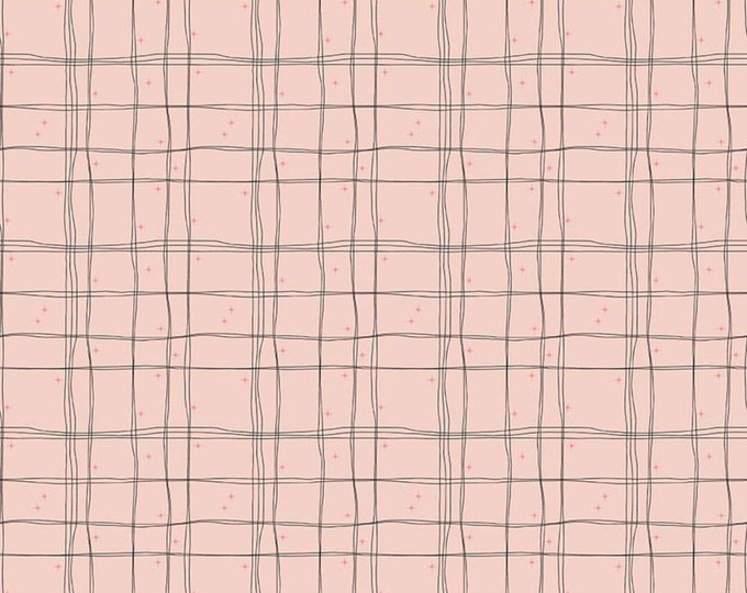 Plaid in Blush from the Mod Meow Collection by Riley Blake Designs