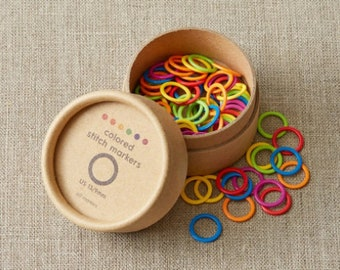 Colored Ring Stitch Markers - ORIGINAL - by CocoKnits
