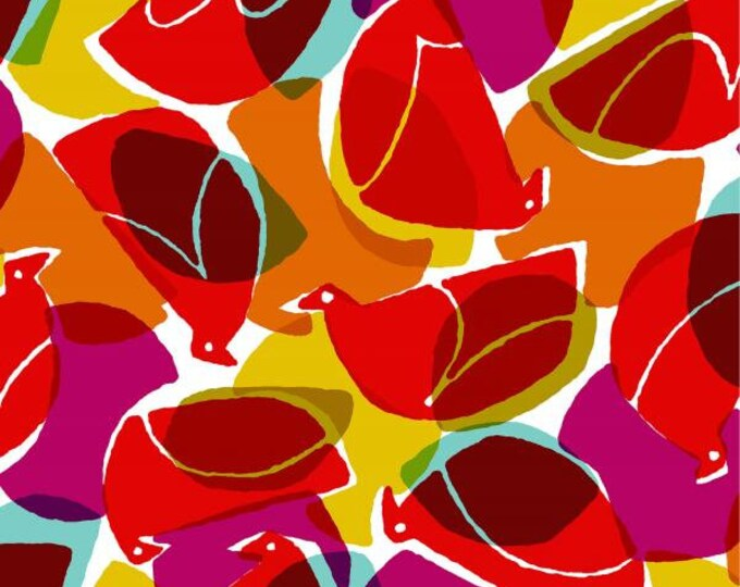 Tweet in Ruby RAYON fabric from the Safari Collection by Cotton + Steel
