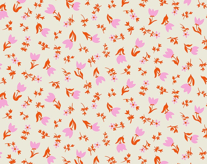 Tulip Calico in Shell from the Smol Collection by Kimberly Kight for Ruby Star Society by Moda Fabrics Fabrics