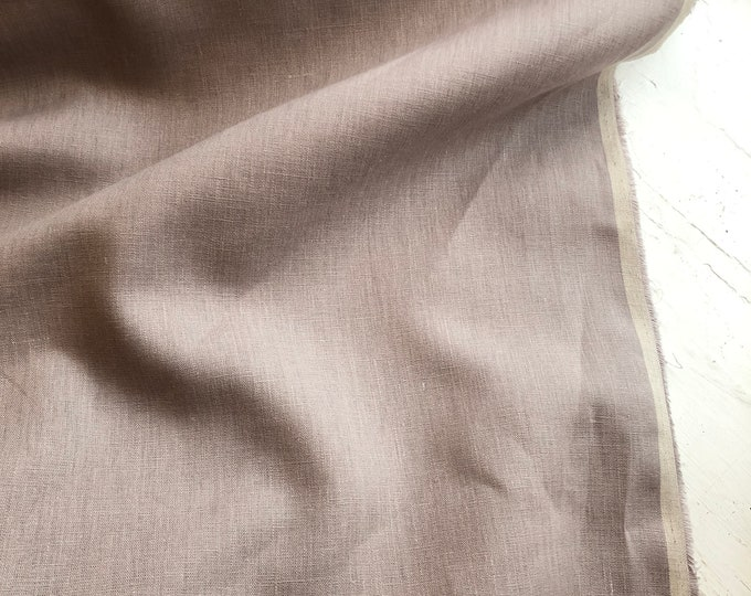 Japanese Linen in Dusty Rose  by KOKKA