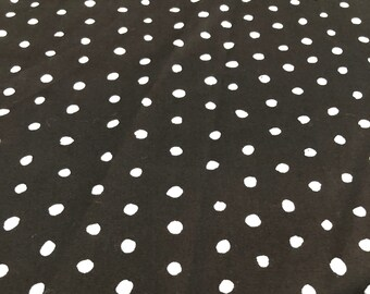 Pocho 100% Cotton Sateen in Black by Nani Iro for Kokka
