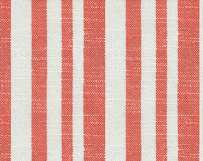 Woven Texture Stripe in Persimmon from the Warp & Weft Heirloom Wovens Collection by Alexia Marcelle Abegg for Ruby Star Society
