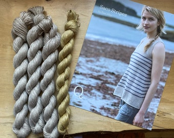 Knit Kit: Saco Stripes Top by Pam Allen for Quince and Co.